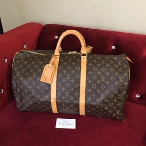 Authentic Louis Vuitton Keepall 55 Monogram canvas